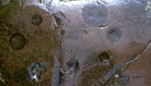 Temple de Lanleff - Empreintes des pièces