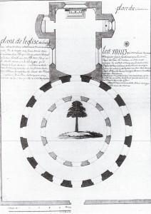 """Schémas du Temple de Lanleff - Christophe Paul, sire de Robien, """"Histoire ancienne et naturelle de la province de Bretagne"""""""